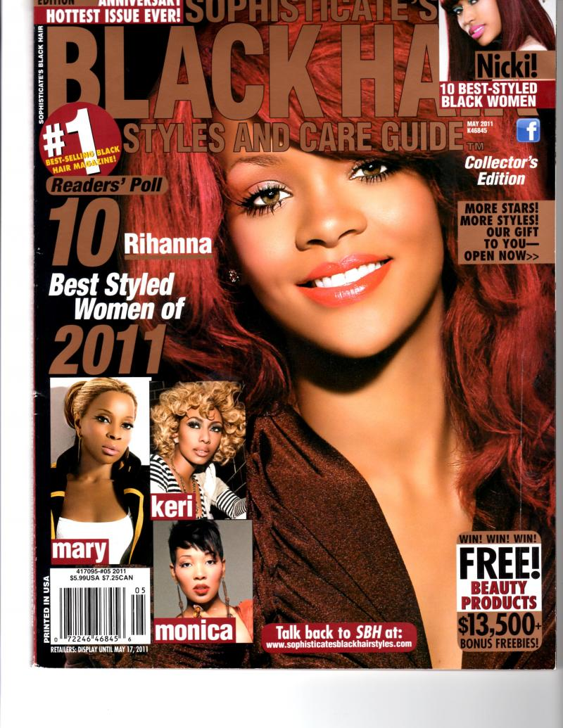 May Issue of Sophisticates Black Hair Magazine