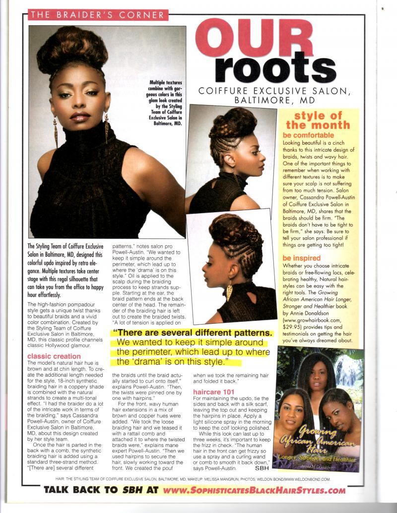 August Issue of Sophisticates Black Hair Magazine